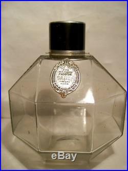 Sauze Chypre Flacon De Parfum Cubisme Art-deco 1928 Vintage Perfume Bottle
