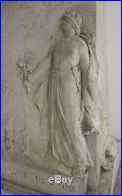 Sculpture statue maquette Monument guerre 14-18 SAINT MAX LORRAINE MILITARIA WW1