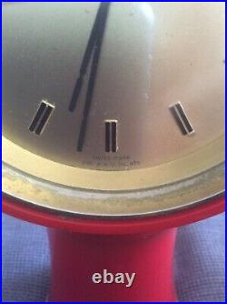 Secticon By ANGELO MANGIAROTTI MOD T1 Red 60´s Horloge Swiss Made