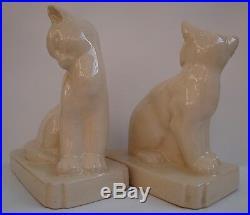 Serre-Livres Figurine Chat Animalier Style Art Deco Style Art Nouveau Craquele