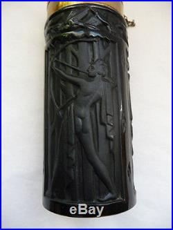 Splendide Flacon Art Deco A Decor De 3 Figurines