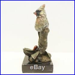 Statue Oiseau Animalier Style Art Deco Style Art Nouveau Bronze massif signe