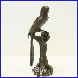 Statue Perroquet Oiseau Animalier Style Art Deco Style Art Nouveau Bronze massif