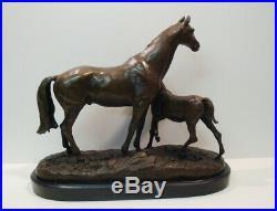 Statue Sculpture Cheval Animalier Style Art Deco Style Art Nouveau Bronze massif