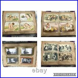 Superbe Album 745 CPA Cartes postales Art Déco Mucha Patella carte à système