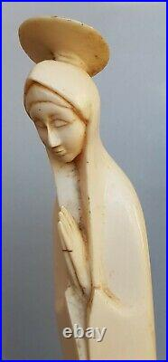 Superbe Grande Vierge Africaine De Style Art Deco 1930 / 40. 26,5 CM