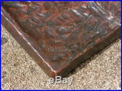Superbe Imposant Encrier Art Deco En Bronze Signe Martin Lion Rugissant Inkwell