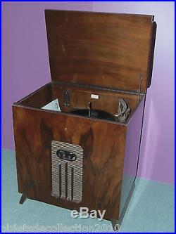 Superbe Meuble Tourne Disques Pick Up Decca Panatrope Carrard 1930 Art Deco