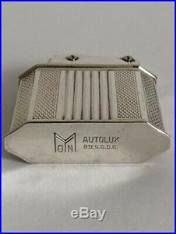 Superbe RARE ancien BRIQUET MYON AUTOLUX ART DECO avec boîte NEUF jamais utilisé
