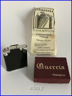 Superbe ancien RARE modèle BRIQUET QUERCIA CHAMPION ART DECO boîte et notice