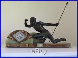 Superbe garniture pendule Art Déco J. De Roncourt clock collection 1920