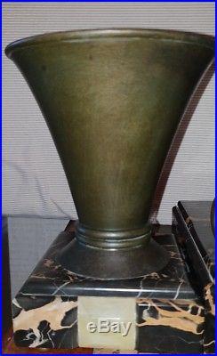 Superbe garniture pendule Art Déco JEAN DE RONCOURT clock collection 1920