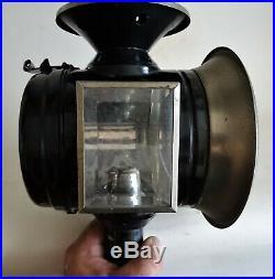 Superbe grande lampe à bougie pour calèche 1900