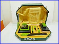 Superbe nécessaire de bureau, encrien, sceau, porte-plume, 1930, Art déco