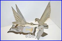 TRAVAIL de COMPAGNON MASCOTTE ALU & LAITON SOUVENIR ARMEE de L'AIR 1927 ART DECO