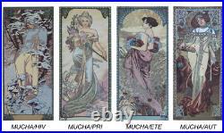 Tentures Murales En Tapisserie Les 4 Saisons D'apres Mucha 45 CM X 100
