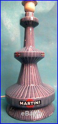 Très Rare Lampe Publicitaire Martini En Céramique Française Art Déco