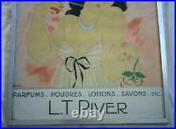 Tres Rare Publicite Originale Art Deco / Parfumerie L. T. Piver / Charles Martin