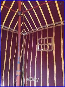 Très rare Cabine de Plage Tente Ancienne Art Deco toile d'origine