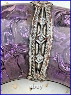Très rare et belle Couronne mortuaire en verre Années 1930/1940 art déco
