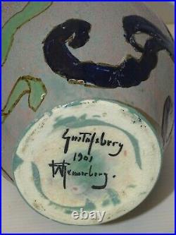 VASE ART NOUVEAU Marqué Gunnar Wennerberg Gustavsbe 1901 COLLECTION DECO XXe
