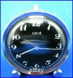 VINTAGE Réveil Montre Watch Uhr ORIS WATCH CO SWISS MADE Wecker Alarm clock NOIR