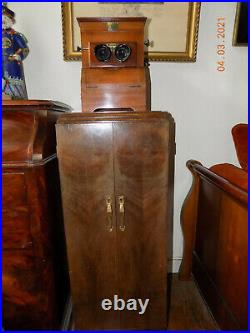 VISIONNEUSE STEREO avec meuble époque art déco PLANOX À SYSTÈME MAGNÉTIQUE