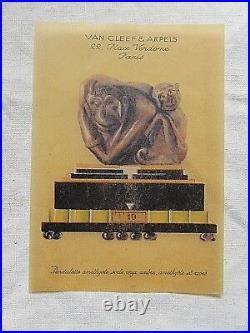 Van Cleef & Arpels Pendulette Rare planche publicitaire des années art-déco