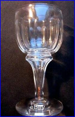 Verre à absinthe, pied avec réservoir, cristal taillé de côtes plates, Art Déco