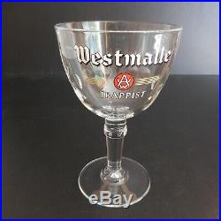 Verre chope coupe 33CL bière WESTMALLE TRAPPIST cristal art déco N5918