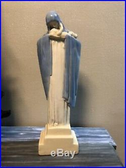 Vierge Faïence Lucienne Heuvelmans Art Deco 1930