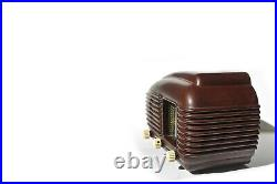 Vintage 50s Tube Radio TESLA 308U TALISMAN Bakelite Art Deco Design Streamline