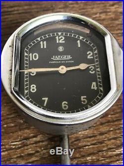 Vintage Art Deco Rare Collectible Mechanical Car Swiss Clock Jaeger