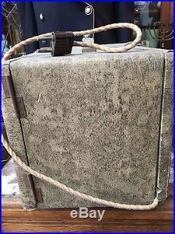Vintage Poste Radio Tsf De Voyage Peau De Serpent Art Déco Commerce Loft Bureau