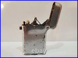 Vintage Suisse Fabriqué Thorens Briquet Double Griffe Art Déco Ton Argent