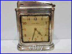 Vintage Travail 1948 Streamline Art Déco Phinney Walker Horloge & Bureau Briquet