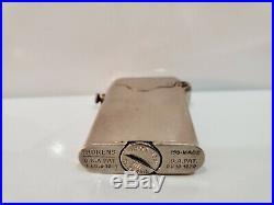 Vintage Travail Suisse Fabriqué Thorens Briquet Simple Claw Art Déco Ton Argent
