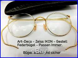 Zeiss Ikon Marqué Luxe Lunettes Art Déco Optiker Collection avec Étui 1920