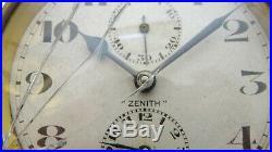 Zenith Watch Company Pendulette Réveil Mécanique Mouvement 2 jours Art Déco
